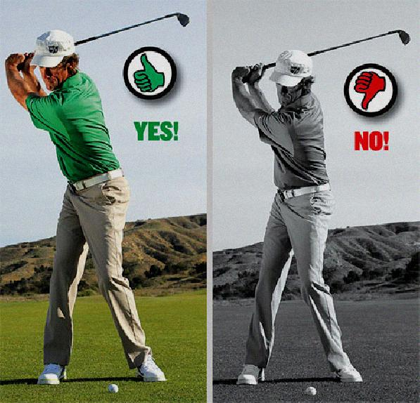 arm movement in golf swing