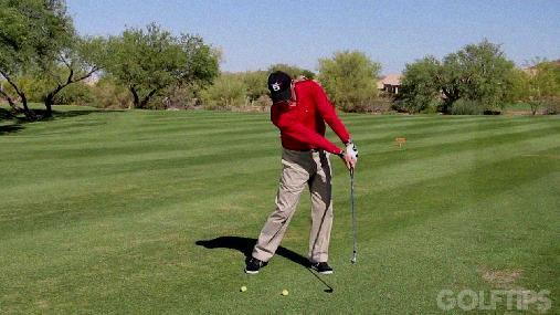 flat left wrist in golf swing