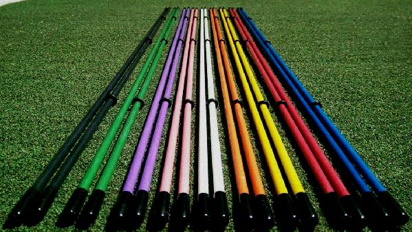 golf swing alignment sticks