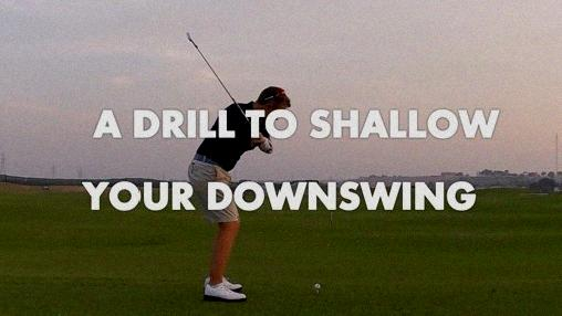 how to shallow out golf swing