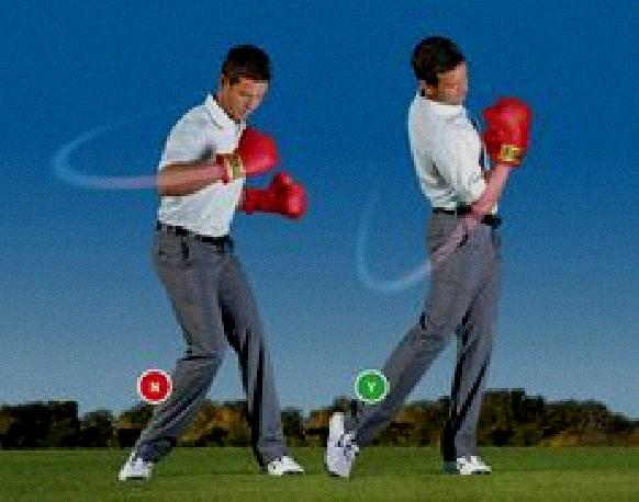 keeping arms together during golf swing