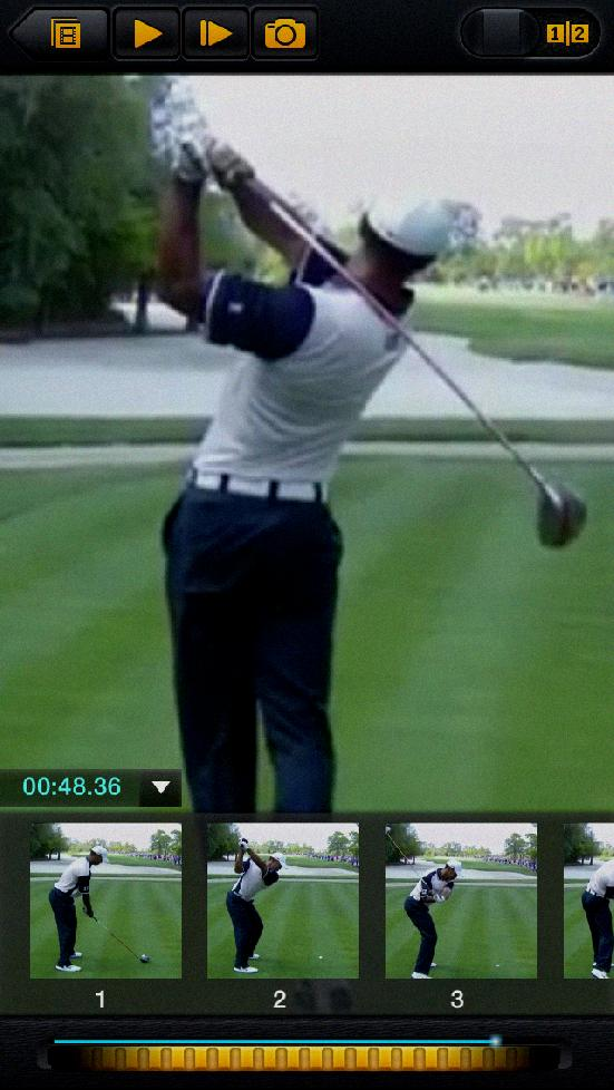 video camera for golf swing analysis